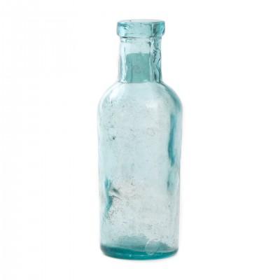 Szklana butelka apteczna, XIX w.