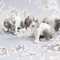 Puppy Family - Rodzina szczeniaków. Figurki szczeniaków w stylu kopenhaskiej porcelany. Niderlandy.