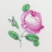Talerz porcelanowy z różą, sygnowany, Wiedeń, 1819 r.