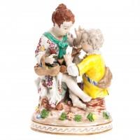 Para zakochanych, figurka porcelanowa, sygnowana, POTSCHAPPEL, Saksonia