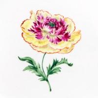 Talerz porcelanowy XXL z dekoracją kwiatową