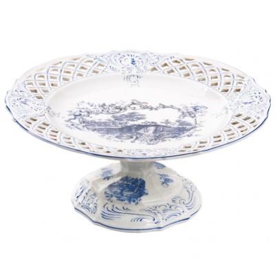 Porcelanowa patera z pejzażem, Anglia (?), XIX w.