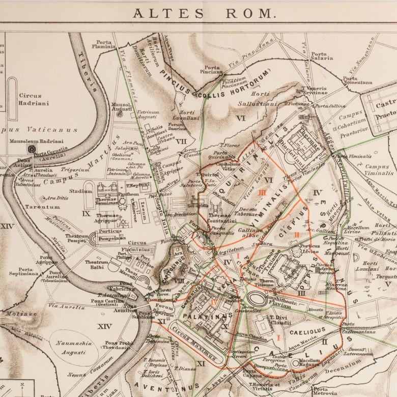 Mapa Starożytnego Rzymu Brockhaus Konversations Lexikon Niemcy Antyki Sosenko Krakow