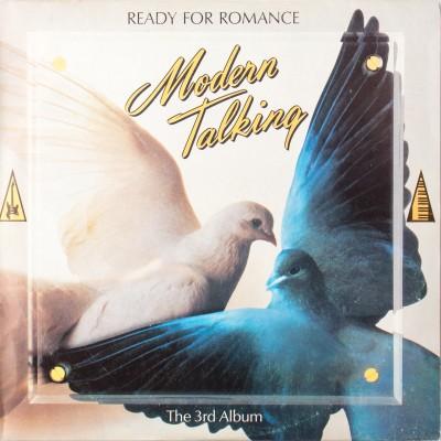 """Album zespołu Modern Talking pt. """"Ready for romance"""". Płyta winylowa. Wydanie bułgarskie. Bułgarnia, 1986 rok (oryginał: Niemcy, 1986 rok)."""