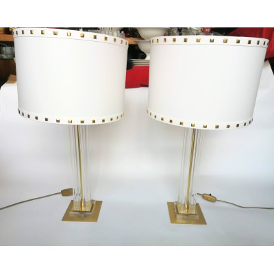 Para lamp w stylu Hollywood Regency. Lata 70