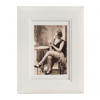 Pin – Up Art Deco. Akt atelierowy w sepii. Lata 20. XX w. Reprint.