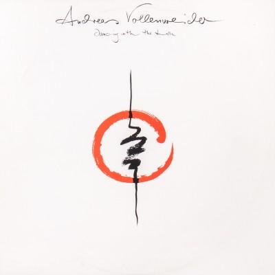 """Album Andreas Vollenweidera pt. """"Dancing with the lions"""". Wydanie polskie. Płyta winylowa. Polska, 1990 rok (oryginał: 1988 rok)"""