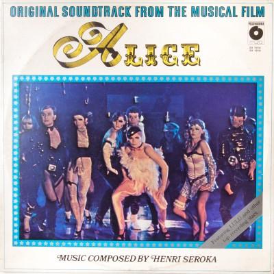 """Dwupłytowy album z muzyką z filmu """"Alice"""" autorstwa Henriego Seroki.  Płyty winylowe. Polska, 1980 rok."""