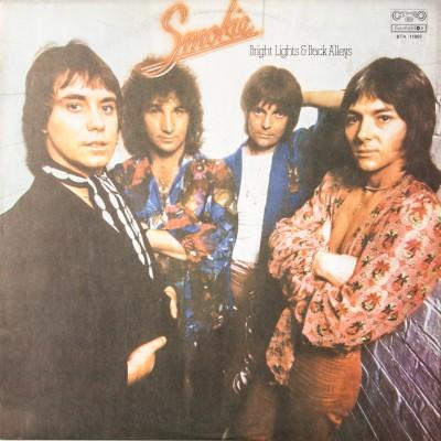 """Album zespołu Smokie pt. """"Bright Lights & Back Alleys"""". Wydanie bułgarskie. Płyta winylowa. Bułgaria, II poł. XX wieku (oryginał: Wielka Brytania, 1977 rok)."""