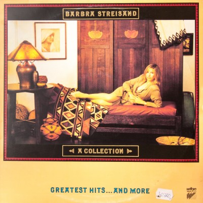 """Album  z utworami Barbry Streisand pt. """"A collection"""". Wydanie polskie. Płyta winylowa. Polska, 1989 rok."""