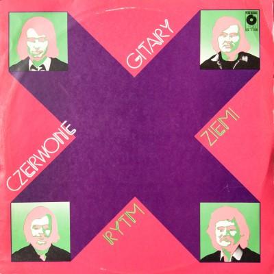 """Album zespołu """"Czerwone Gitary"""" pt. """"Rytm ziemi"""". Polska, 1974r."""