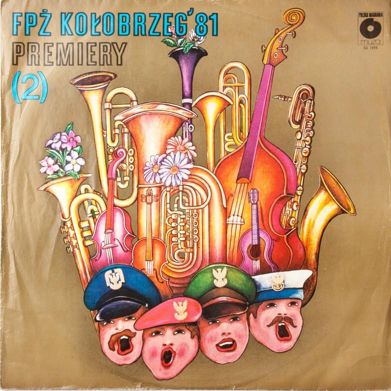 Album z nagraniami z Festiwalu Piosenki Żołnierskiej w Kołobrzegu z roku 1981, Premiery 2. Płyta winylowa. Polska, 1981r.