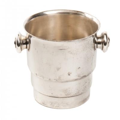Cooler - naczynie na lód w stylu art deco. Metal posrebrzany