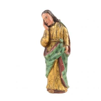 Rzeźba przedstawiająca młodzieńca (Chrystusa?), drewno polichromowane, złocone, XVIII/XIX w.