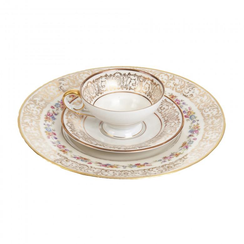 Zestaw deserowy, porcelana, sygn. Bavaria Tirschenreuth Germany