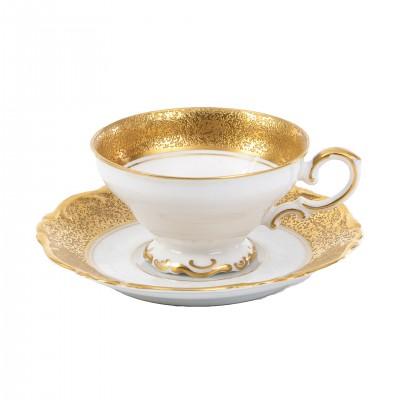 Filiżanka ze złotym dekorem. Porcelana. Sygn. H & Co. Heinrich Selb Bavaria Germany