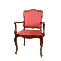 Fotele w stylu Ludwika Filipa, drewno orzechowe, oryginalna tapicerka w kolorze czerwonym, I poł. XIX w.