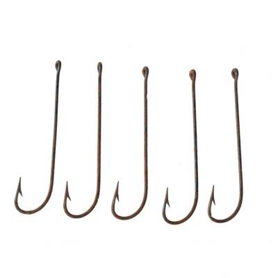 Zestaw metalowych haczyków wędkarskich o długich trzonkach, 5 szt.