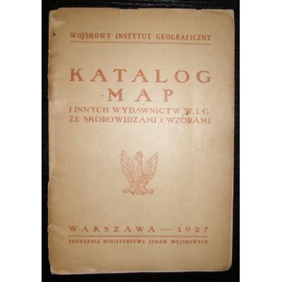 Katalog map i innych wydawnictw W. I. G. ze skorowidzami i wzorami. Polska, Warszawa 1927 r.