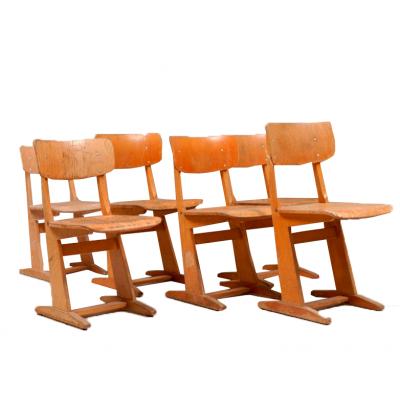 Krzesła CASALA. Sklejka. Niemcy, Lata 60/70. XX w.