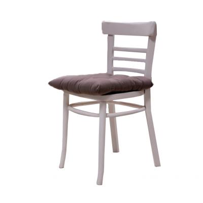 Krzesło drewniane lakierowane na biało. Poł. XX w.