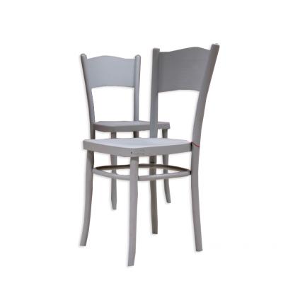 Krzesło lakierowane na niebiesko.  XX w.