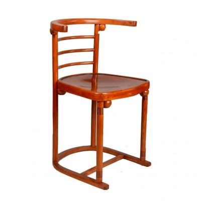 Krzesło Thonet. Projekt Joseph Hoffmann. Sygnowane  Jacob & Josef Kohn, Wien. Austria, pocz. XX w.