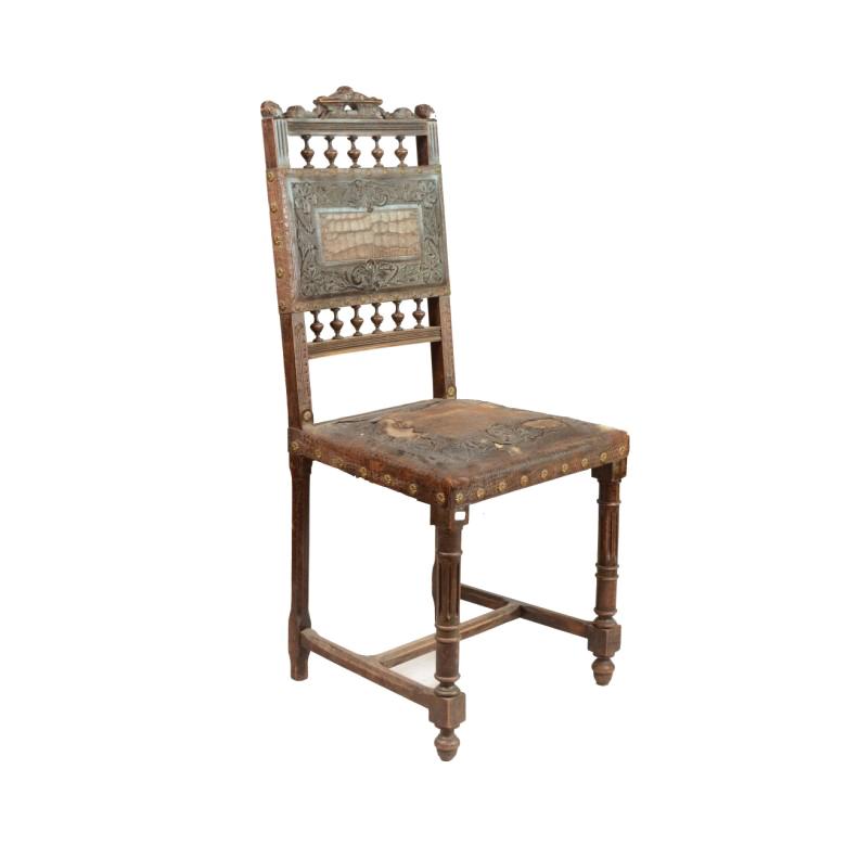 Rzeźbione krzesła w stylu eklektycznym. Polska. Ok. 1880 r.