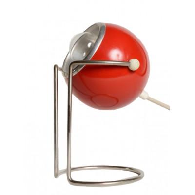 Lampa biurkowa Reflektor w kolorze czerwonym, na stopie z giętego metalu.  Lata 60. XX w.
