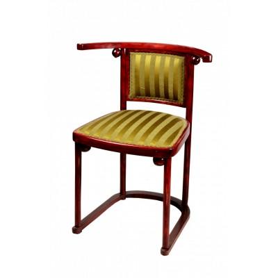 Fotele Thonet, Model Fledermaus. Proj. Joseph Hoffmann. Buk gięty, bejcowany na palisander i politurowany. Austria. Pocz. XX w.