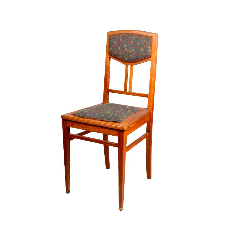 Krzesło dębowe w stylu secesji wiedeńskiej. Austria. XIX/XX w.