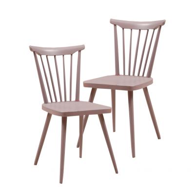 Krzesła w stylu skandynawskim. według wzoru Børge Mogemsena. Drewno, lakier w kolorze pastelowym.  Lata 60/70. XX w.