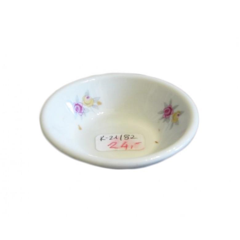 Porcelanowa solniczka, sygn. Chodzież Made in Poland