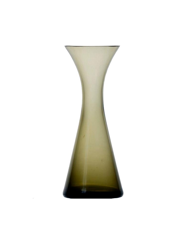 Szklany wazon w formie klepsydry.  Mid Century Modern.