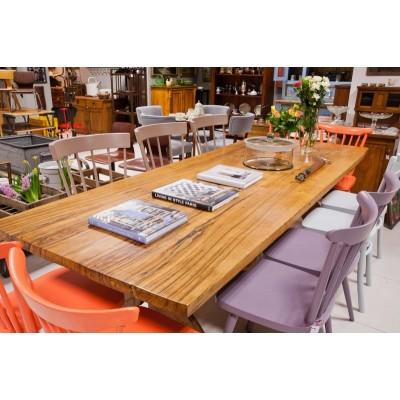 """Wielki stół z masywu drzewa oliwnego w stylu  """"Modern Rustic"""". 10 – 12 osób.  2 poł. XX w."""