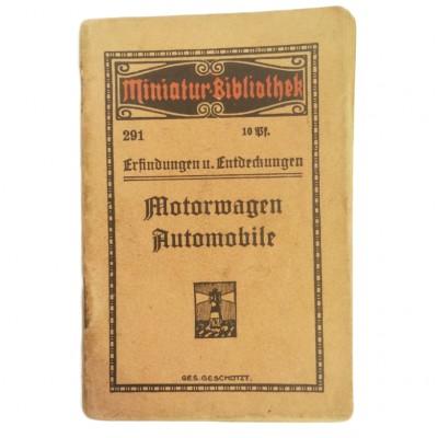 """Przewodnik po świecie wynalazków i odkryć z zakresu motoryzacji, """"Erfindungen u. entdeckungen Motorwagen automobile"""". Niemcy, I poł. XX w(?)"""